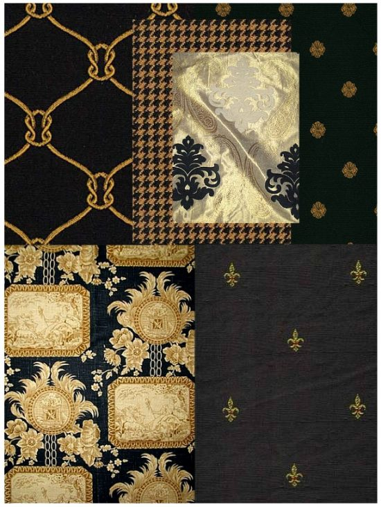 black-and-gold-fabrics