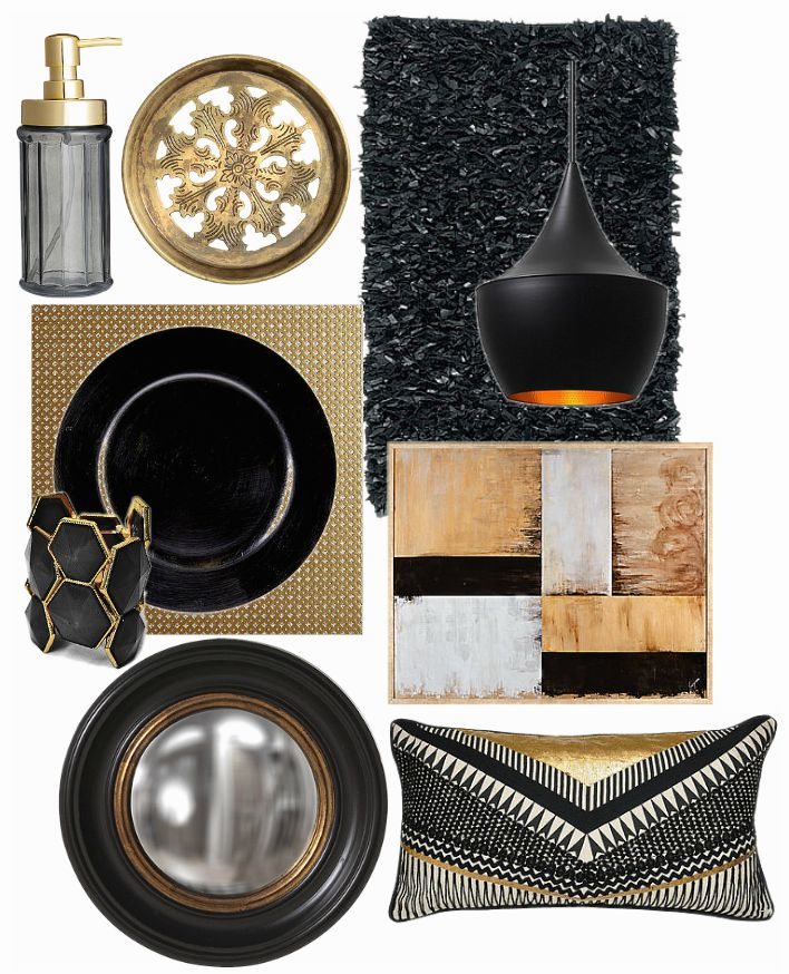 black and gold home decor places in the home