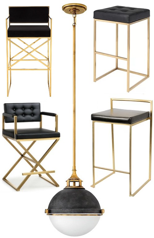 black-gold-counter-stools