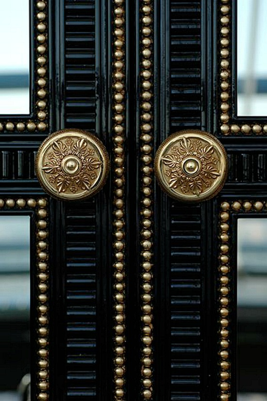 black-gold-doors