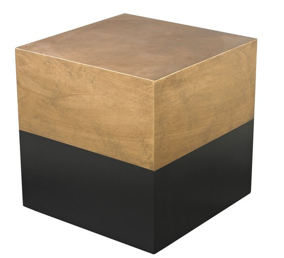 black-gold-drum-table