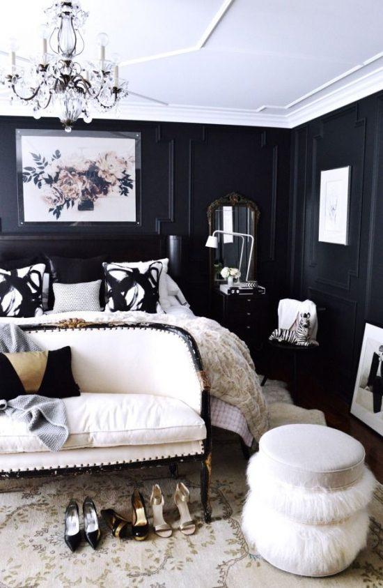 black-white-bedroom-styled
