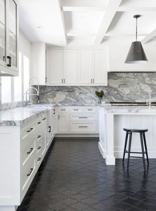 white-kitchen-black-floors