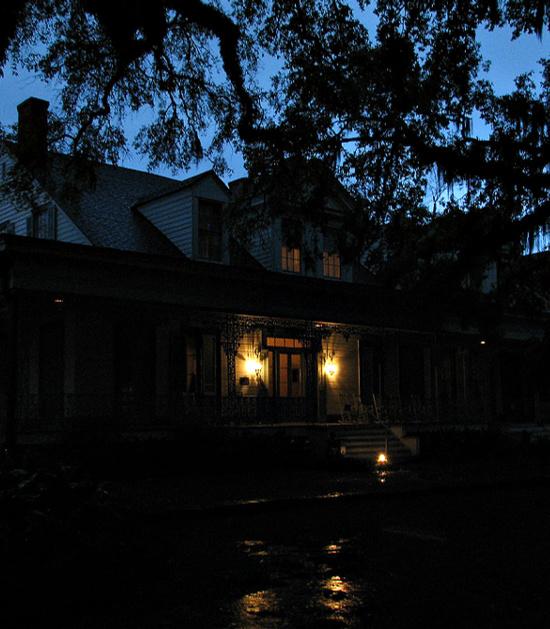 Myrtles at night