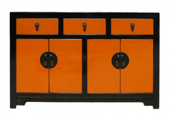 black-orange-console