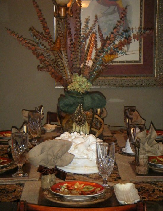 seasonal tablescape