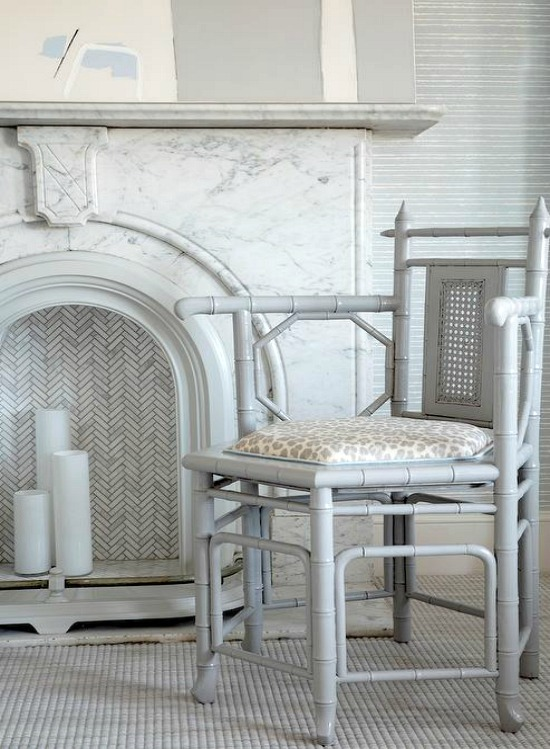 light-gray-bamboo-accent-chair