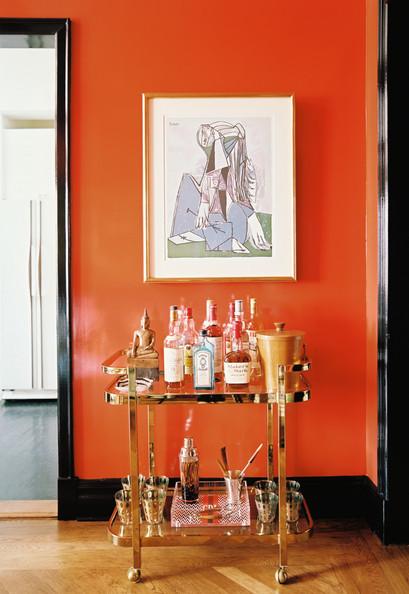 orange and black interiors