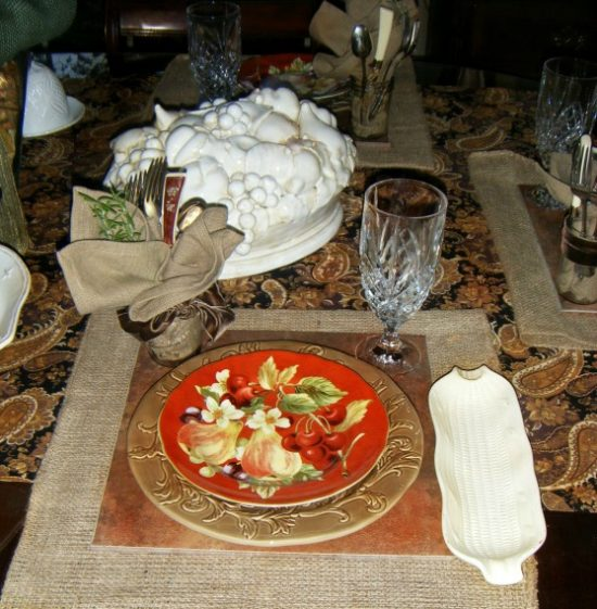 fall placesetting