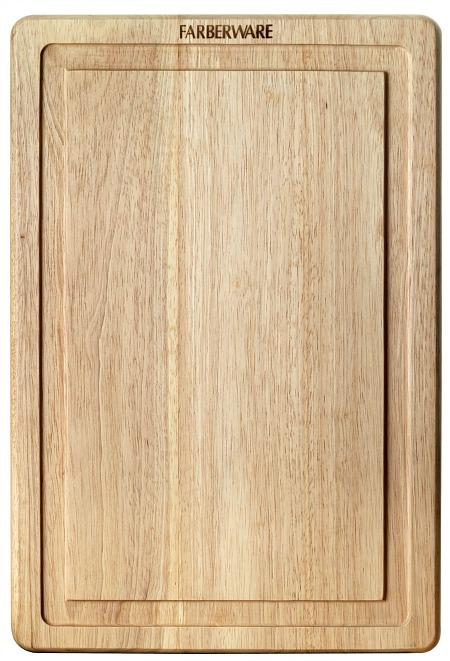 Farberware 12 Inch by 18 Inch Hardwood Drip Trench Cutting Board