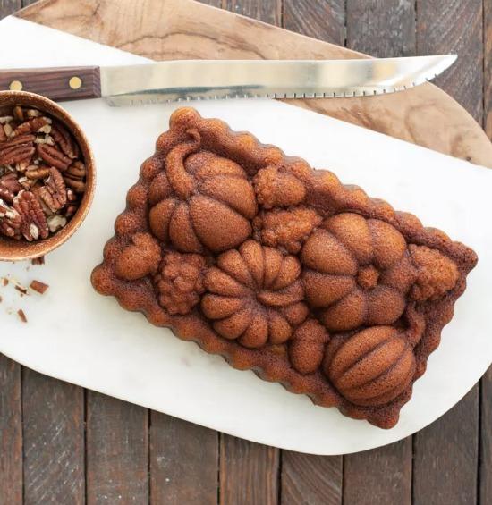 Nordic Ware Harvest Bounty Loaf baked
