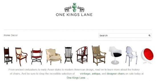 One Kings Lane Home Decor Resource