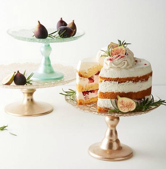 Metallic Lace Cake Stand