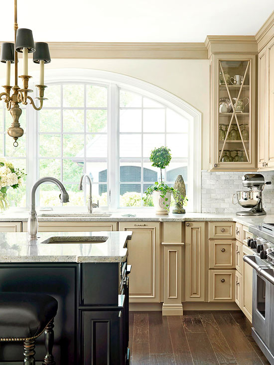 Kitchen window treatment options places in the home for Window treatments for kitchen windows