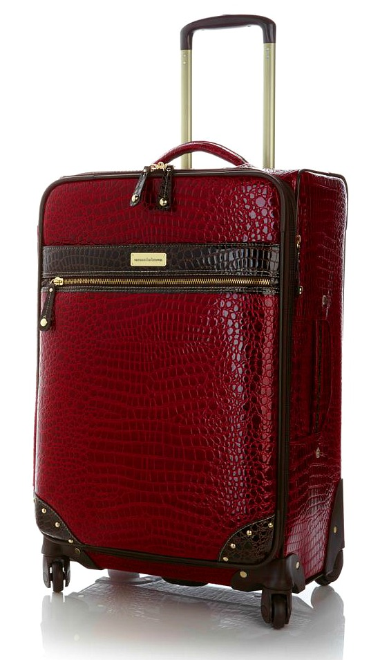 Samantha Brown Croc suitcase1
