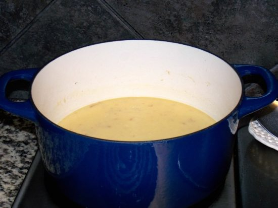 chicken broth and cream