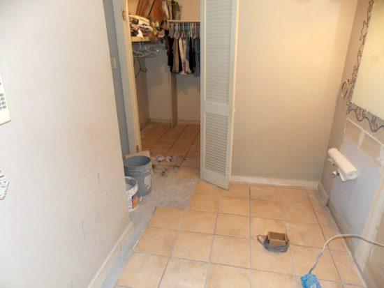 bathroom vanity area