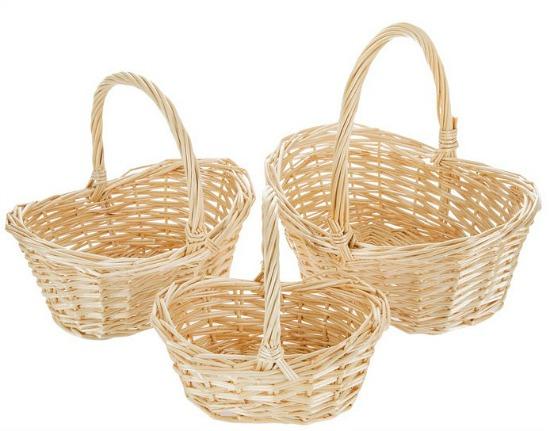 willow baskets set