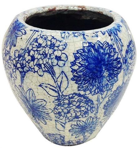 Hendersonville Old World Floral Garden Ceramic Pot Planter