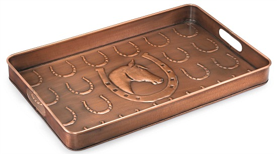 Good Directions Horseshoe Boot Tray in Copper