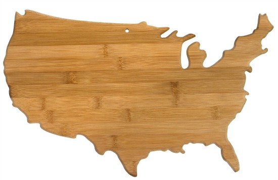 Totally Bamboo State Shaped Bamboo Cutting Board