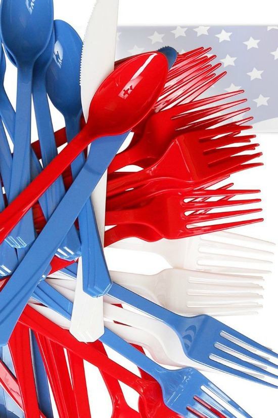 red-white-blue-plastic-cutlery