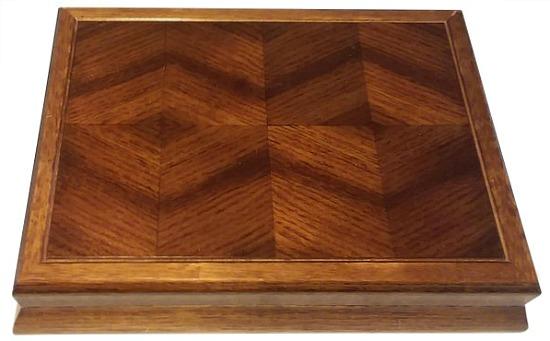 Wood Inlay Trinket Jewelry Box