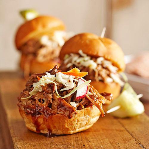 Balsamic-honey-pulled-pork-sliders