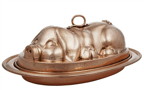 Copper-pig-serving-tray