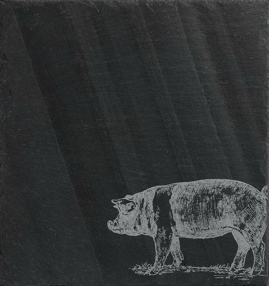 JK Adams Slate Cheese Server Pig