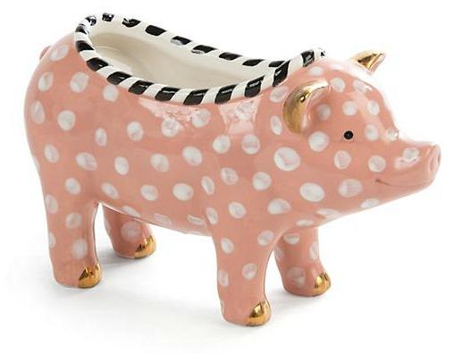 Mackenize Childs Polka Dot Pig