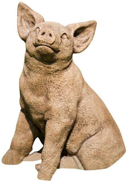 Perky Pig Statue