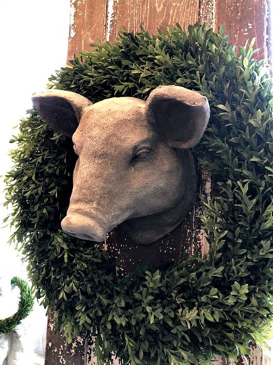 Pig Hog Plaster Wall Hanging