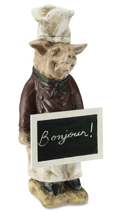 Pierre the Pig chef statue
