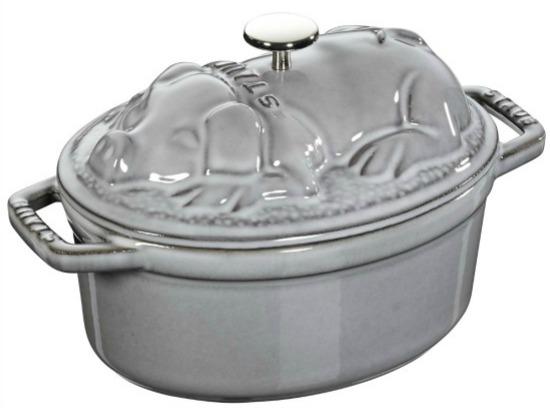 Staub+Cast+Iron+1+Qt.+Pig+Oval+Dutch+Oven