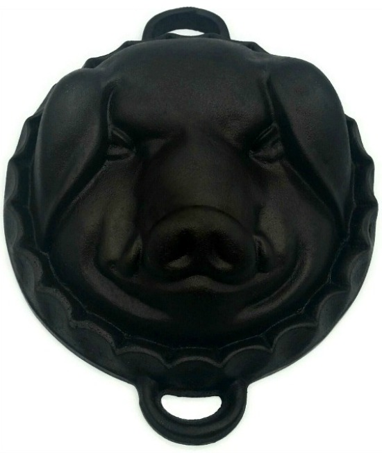 cast iron pig face mold