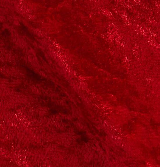 Stretch Panne Velvet Velour Red Fabric