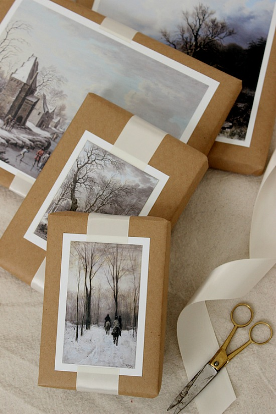 DIY-Winter-Scene-Painting-Gift-Toppers-4