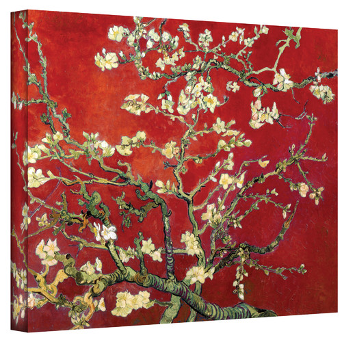Art-Wall-Interpretation-in-Red-Blossoming-Almond-Tree-by-Vincent-Van-Gogh