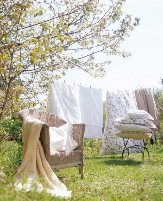 Bedding Hanging To Dry