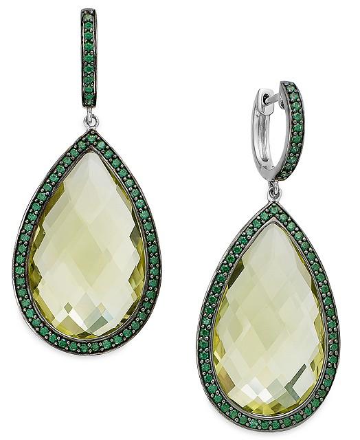 citrine-emerald-earrings