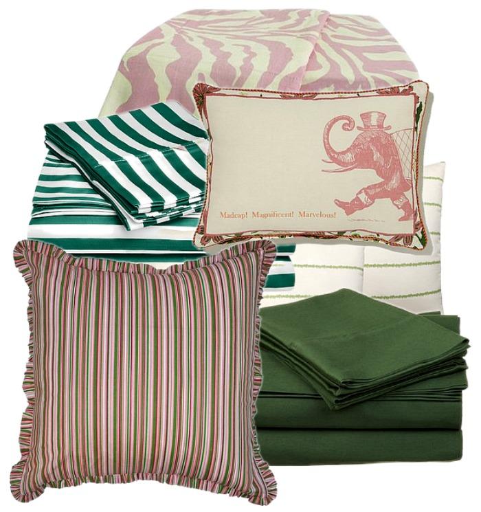linens-green-pink-bedding