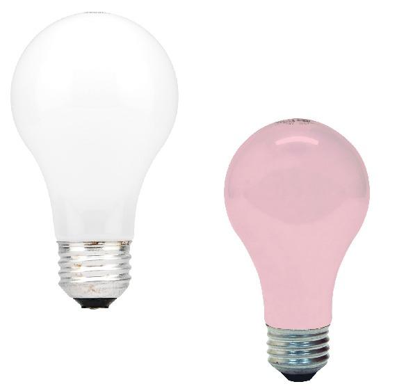 white-pink-light-bulbs