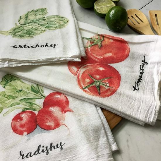 Flour Sack Towel Garden Tea Towel