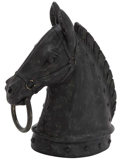 The Gray Barn Jartop Polystone Horse Head Sculpture
