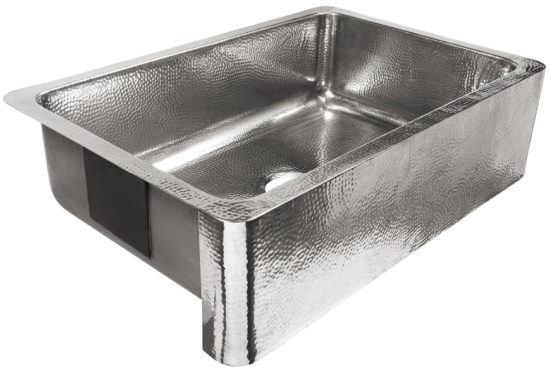 Percy Farmhouse Apron-Front Crafted Stainless Steel 32 in. Single Bowl Kitchen Sink