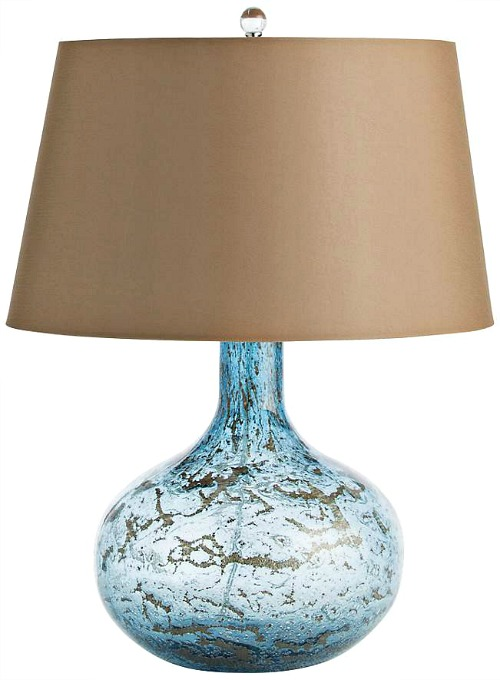 Arteriors Home Thom Blue Sand Infused Glass Table Lamp