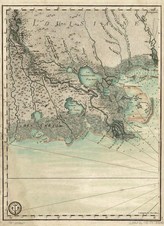 Louisiane gulf coast map