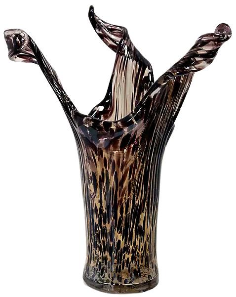 Tortoise Shell Murano Glass Vase
