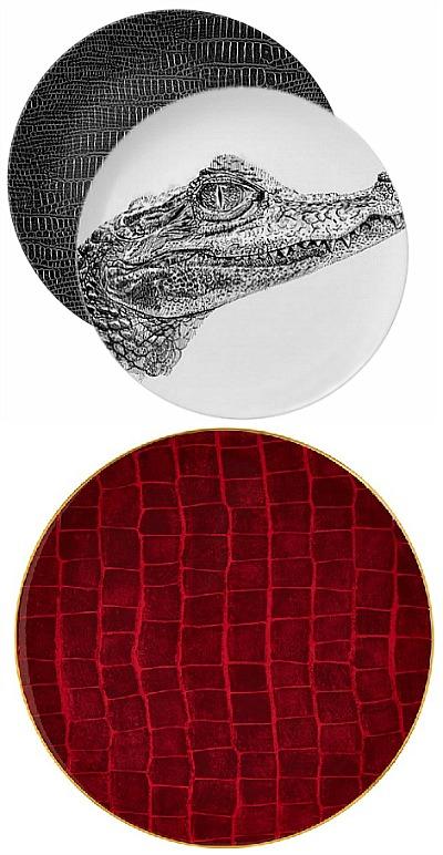 alligator dinner plates